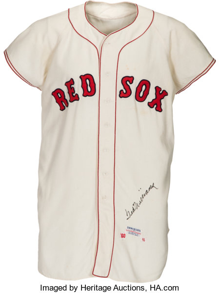 reputable site c3baa a2a21 1960 Ted Williams Game Worn & Signed Boston Red Sox Jersey ...