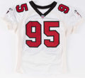 Football Collectibles:Uniforms, 2001 Ed Jasper Game Worn Atlanta Falcons Jersey. ...