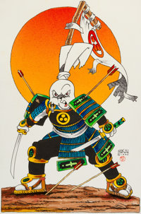 Stan Sakai Usagi Yojimbo Illustration Original Art (1990)