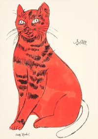 Andy Warhol (American, 1928-1987) Sam, from 25 Cats Named Sam and One Blue Pussy, circa 1954