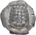 Ancients:Greek, Ancients: SARONIC ISLANDS. Aegina. Ca. 457-350 BC. AR stater (21mm,12.25 gm). NGC AU ★ 5/5 - 4/5....