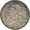 Bust Quarters: , 1825/2 25C B-1, R.5. AU58 NGC. Die State I. Wide overdate; Spine left from lowest arrow point. Pleasing for the antique sil...