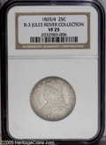 Bust Quarters: , 1825/4 25C B-3, R.3. VF25 NGC. Die State II. Close overdate; Low 25 with large 5. Silver gray and pleasing for the grade, w...