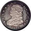 Bust Quarters: , 1828 25C Normal Reverse. B-4, R.3. MS63 PL NGC. Usual Die State. Star 1 distant from bust; Scroll begins below right side o...