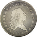 Early Half Dollars: , 1794 50C O-102, Low R.7. Fine 12 NGC. Stephen Herrman reported thatjust 11 or 12 examples are known, making this a low R.7...