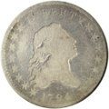 Early Half Dollars: , 1794 50C O-110, R.7. Good 4 NGC. Only about five or possibly sixexamples of this variety are known. According to Jules' en...