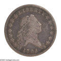 Early Half Dollars: , 1795 50C 2 Leaves. O-119, R.4--Obverse Damage, NCS--VF Details. Asmall but bold die break is noted directly above the fina...