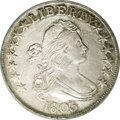 Early Half Dollars: , 1803 50C Large 3. O-101, R.3--Improperly Cleaned--NCS. AU Details.One of three die marriages that share the same Large 3 o...