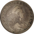 Early Half Dollars: , 1803 50C Large 3. O-102a, High R.3. Fine 12 NGC. A short die lineextends downward from the bottom of D in UNITED, below th...