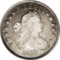 Early Half Dollars: , 1807 50C Draped Bust. O-109a, R.3--Obverse Scratched--NCS. XFDetails. Vertical marks in the obverse field near the chin an...