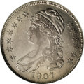 Bust Half Dollars: , 1807 50C Capped Bust, Small Stars XF45 NGC. O-113a, R.3. The heavydie crack that runs around much of the reverse is presen...