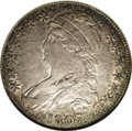 Bust Half Dollars: , 1807 50C Capped Bust, Large Stars AU50 NGC. O-114, R.3. Thislustrous and appealing coin has speckled bronze, copper, gray,...