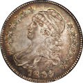 Bust Half Dollars: , 1809 50C XXX Edge AU58 NGC. O-102. R.1. An attractive example withalmost all of the original mint luster still visible. In...