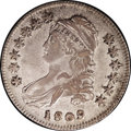 Bust Half Dollars: , 1809 50C VF35 NGC. O-105. R.2. Intermingled blue, gold, and pinktoning complements both surfaces. Here's an attractive exa...