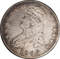 Bust Half Dollars: , 1809 50C III Edge VF30 NGC. O-108A. R.5. Intermingled pink, blue,and lilac toning complements both surfaces. Flatly struck...