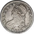Bust Half Dollars: , 1811 50C Small 8 VF35 NGC. O-113, R.5. Very similar to O-110, butshowing heavy die erosion near the obverse and reverse pe...