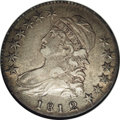 Bust Half Dollars: , 1812/1 50C Small 8 AU50 NGC. O-102, R.2. A clear overdate variety.Surprisingly clean surfaces, the central striking detail...