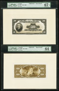 Canadian Currency: , BC-18 $500 1935 French Text Face and Back Proofs. ... (Total: 2notes)