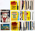 Memorabilia:Trading Cards, Mars Attacks Set and Wacky Packages Trading Cards Plus Group(Topps, 1970s-2000s)....