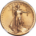 High Relief Double Eagles, 1907 $20 High Relief, Flat Rim -- Obverse Scratched -- NGC Details. Unc....