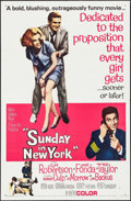 "Movie Posters:Comedy, Sunday in New York & Other Lot (MGM, 1964). One Sheets (2) (27"" X 41"") Style B. Comedy.. ... (Total: 2 Items)"