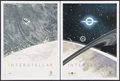 "Movie Posters:Science Fiction, Interstellar (Paramount, 2014). IMAX Exclusive Posters (2) (12"" X 16"") Tidal Wave & Black Hole Styles. Science Fiction.. ... (Total: 2 Items)"