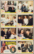 "Movie Posters:Mystery, Dr. Gillespie's Criminal Case (MGM, 1943). Lobby Card Set of 8 (11""X 14""). Mystery.. ... (Total: 8 Items)"