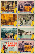 "Movie Posters:Documentary, Land of Liberty (MGM, 1939). Lobby Card Set of 8 (11"" X 14""). Documentary.. ... (Total: 8 Items)"