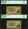 Canadian Currency: , DC-15b 25 Cents 1900, Two Examples. ... (Total: 2 notes)