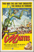 """Movie Posters:Science Fiction, The Deadly Mantis (Universal International, 1957). One Sheet (27"""" X41""""). Science Fiction.. ..."""