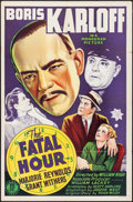 "Movie Posters:Mystery, The Fatal Hour (Monogram, 1940). One Sheet (27"" X 41""). Mystery....."