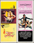 """Movie Posters:Foreign, Never on Sunday & Others Lot (Lopert, 1960). Inserts (4) (14"""" X 36""""). Foreign.. ... (Total: 4 Items)"""