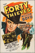 "Movie Posters:Western, Forty Thieves (United Artists, 1944). One Sheet (27"" X 41""). Western.. ..."