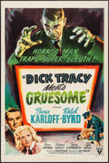 """Movie Posters:Crime, Dick Tracy Meets Gruesome (RKO, 1947). One Sheet (27"""" X 41""""). Crime.. ..."""