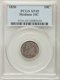Bust Dimes: , 1830 10C Medium 10C XF45 PCGS. PCGS Population: (20/164). NGCCensus: (7/146). Mintage 510,000. ...