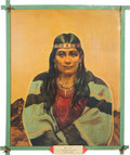 "Original Comic Art:Paintings, Paul von Klieben ""Indian Maiden Kiowa"" Ghost Town Painting (1946).... (Total: 2 Items)"