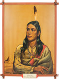 "Original Comic Art:Paintings, Paul von Klieben ""Winnetou Indian"" Ghost Town Painting (1946)....(Total: 2 Items)"