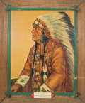 "Original Comic Art:Paintings, Paul von Klieben ""Chief Rain in the Face"" Ghost Town Painting(1946).... (Total: 2 )"