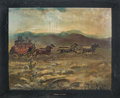 "Original Comic Art:Paintings, Paul von Klieben ""Through the Desert"" Ghost Town Painting (c.1940s-50s)...."