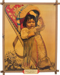 """Original Comic Art:Paintings, Paul von Klieben """"Washoe Indian Papoose"""" Ghost Town Painting,Brochure, and Doll (1946).... (Total: 3 Items)"""