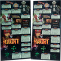 Memorabilia:Poster, Knott's Scary Farm 30th Halloween Haunt Park Sign Group of 2(2012-2014).... (Total: 2 Items)