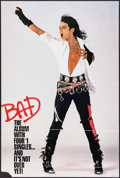 "Movie Posters:Rock and Roll, Bad by Michael Jackson & Others Lot (CBS, 1988). Album Poster(24"" X 46"") & Personality Posters (6) (12"" X 18""). Rock andRo... (Total: 7 Items)"