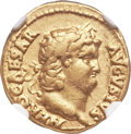 Ancients:Roman Imperial, Ancients: Nero (AD 54-68). AV aureus (19mm, 7.15 gm, 7h). NGCChoice VF 5/5 - 3/5....
