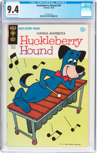 Huckleberry Hound #39 (Gold Key, 1969) CGC NM 9.4 Off-white to white pages