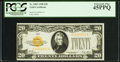Small Size:Gold Certificates, Fr. 2402 $20 1928 Gold Certificate. PCGS Extremely Fine 45PPQ.. ...