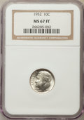 Roosevelt Dimes, 1952 10C MS67 Full Bands NGC. NGC Census: (36/0). PCGS Population: (32/0). Mintage 99,000,000. ...