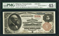National Bank Notes:Pennsylvania, Ridgway, PA - $5 1882 Brown Back Fr. 474 The Elk County NB Ch. #5014. ...