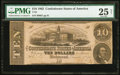 Confederate Notes:1862 Issues, T52 $10 1862 PF-1, Cr. 369.. ...