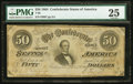 Confederate Notes:1864 Issues, T66 $50 1864 PF-2 Cr. 496.. ...