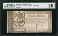 Colonial Notes:Georgia, Georgia October 16, 1786 20s PMG Extremely Fine 40 Net.. ...